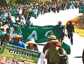 La marcha llega a La Paz en busca de una solución definitiva a su pedido
