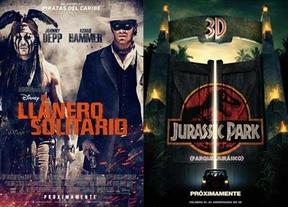 Dos grandes mitos toman los cines 'El llanero solitario' y 'Parque Jurásico 3D'