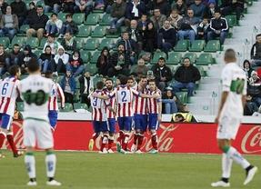 El Atleti se impone sin problemas a un Elche hundido en la zona de descenso (0-2)