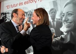 Comienza el 'rifirrafe' de cifras entre de Rubalcaba y Chacón para liderar el partido