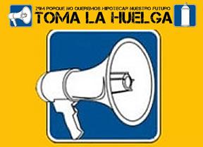El 15-M se rebela y hace su propia huelga al margen de los sindicatos mayoritarios, CCOO y UGT
