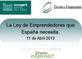 ¡¡España Emprende!! Considera urgente la aprobación de la ley de emprendedores