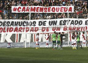 El Rayo más solidario le regala apoyo económico y la victoria ante el Celta a su vecina desahuciada Carmen Martínez (1-0)