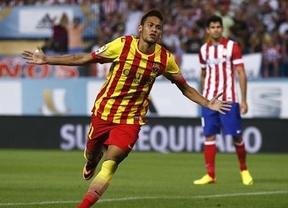 Supercopa: un Atlético cobarde aunque luchador y un Barça a verlas venir 'firman' un empate aburrido (1-1)