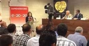 María Jesús Pascual anuncia una importante línea de créditos para emprendedores en el acto de Eno-Emprendedores 2020 en Peñafiel
