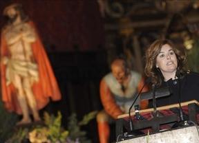 Soraya entra al 'trapo' en el polémico pregón de Semana Santa