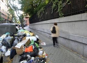 Desesperación de empresarios, hoteles y comercios en la capital: Madrid se hunde entre basura