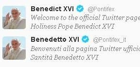 El último 'tuit' de un Papa agradecido
