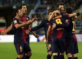 Marca histórica: el 'Superbarça' también gana en Málaga (1-3) y bate el récord de puntos: ¡55!
