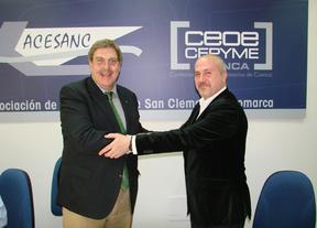 Globalcaja y Acesanc apoyarán al sector empresarial en San Clemente y comarca