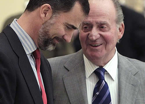 Don Juan Carlos bromea con pedir permiso al Príncipe