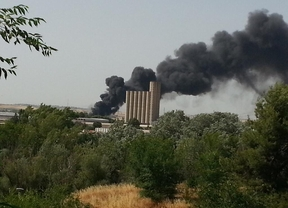 Dados de alta los tres bomberos trasladados hasta el hospital por el incendio en una nave de Guadalajara