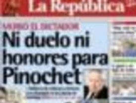 La muerte de Pinochet acaparó las portadas