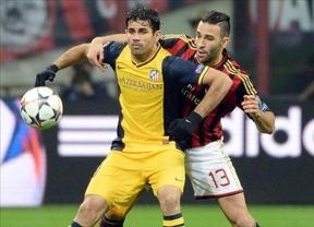 Champions: un gol de Costa da la victoria al Atleti ante el Milan (0-1)