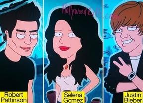 Justin Bieber, Selena Gomez y Robert Pattinson, personajes de 'Padre de Familia'