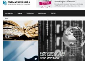Un nuevo soporte de formación: Formacionahora.com agrega oferta presencial, online y materiales gratuitos