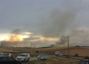 El incendio de Bustares no remite y sigue en alerta 2