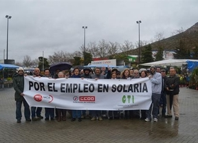 Los trabajadores de Solaria Puertollano piden el apoyo ciudadano para sus movilizaciones