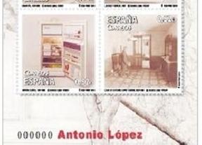 La obra de Antonio López recorrerá el mundo en forma de sello