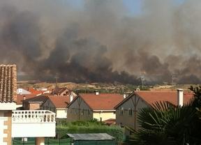 Declarado un incendio en Tórtola de Henares (Guadalajara) que alcanza el nivel 1 de alerta