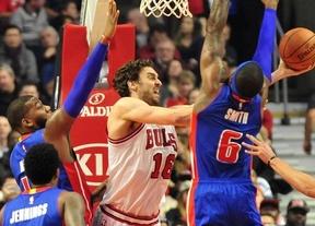 Otro nuevo 'doble-doble' de Pau lleva a 'sus' Bulls a una nueva victoria ante los Pistons (102-91)