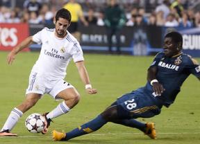 Isco pone el juego y Benzema los goles en la victoria del Madrid antes los 'galácticos' (3-1)