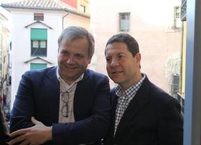 García-Page junto al candidato a la Alcaldía de Madrid, Antonio Miguel Carmona