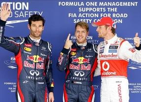 Vettel, intratable, logra la 'pole', y Alonso partirá sexto