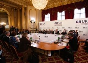 La primera jornada del G-8 se salda con buenas noticias sobre mejora económica