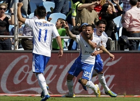 El Zaragoza sentencia al Sporting cuando más duele (1-2) con un gol de Lafita en el minuto 90