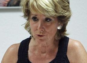 Esperanza Aguirre muestra su apoyo a la concejal socialista Olvido Hormigos