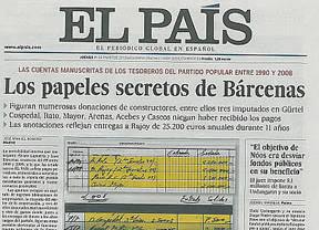 Los papeles de 'El País' con las cuentas de Bárcenas: todos los datos