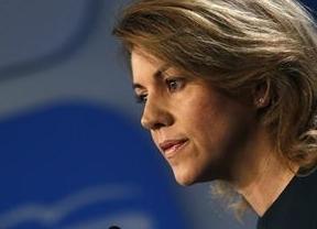 Cospedal critica la política de Rubalcaba y Chacón: 'Su éxito se basa en boicotear a Rajoy'