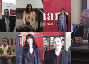 La presidenta de Aragón presentó 'Emprendedores' en Zaragoza