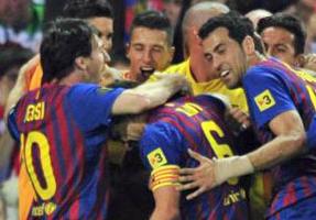 El 'Superbarça' estoquea a unos leones sin casta y se va de Copas en la despedida de Guardiola