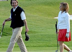 Los madrileños le pagaron más de 200 clases de golf a Aznar y su familia