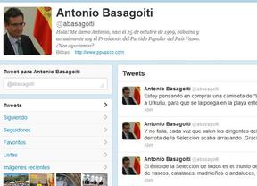 Basagoiti, con humor en Twitter: 'Regalaré una camiseta de La Roja a Urkullu'