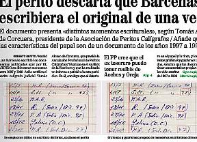Dudas sobre los nuevos manuscritos de Bárcenas: ¿están escritos en distintas épocas?