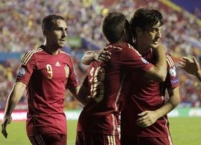 Que viva... la nueva España: 5-1 ante Macedonia con debut goleador de Alcácer