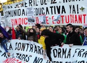 Los estudiantes vuelven esta semana a las calles con 3 días de huelga contra la LOMCE y los recortes