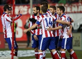 Tres certeras y rápidas estocadas de los matadores Mandzukic y Griezmann le bastan a un Atlético muy superior al Almería (3-0)