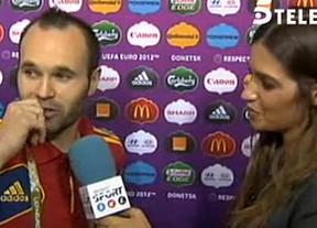 El lápsus de Sara Carbonero: olvidó que Iniesta había lanzado un penalti
