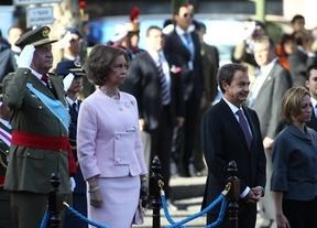 Último desfile de la era Zapatero: más austeridad y 'pantallas antiabucheos'