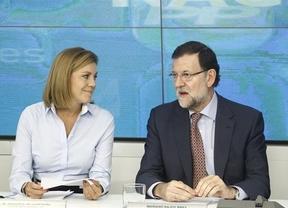 Rajoy arropa hoy a Cospedal en la presentación de su candidatura