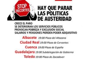 'Hay que parar las políticas de austeridad', el lema de las concentraciones hoy en toda la región