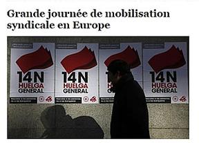 España, imagen de la huelga general europea en la prensa internacional
