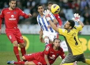 La Real Sociedad y el Getafe esperan al último suspiro para marcar los goles del empate (1-1)