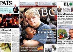 Resumen de prensa: Mandela, Rajoy y Montoro