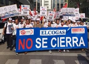 Los trabajadores de Elcogas Puertollano se manifiestan en Madrid