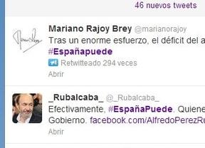 Rajoy y Rubalcaba se enzarzan en Twitter a cuenta del hashtag #Españapuede